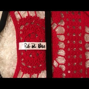Rat and Boa Dresses - BRAND NEW Rat and Boa red crochet dress